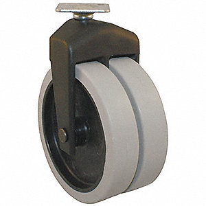 "3"" Light-Duty Rigid Plate Caster, 150 lb. Load Rating"