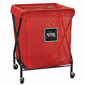 X-Frame Cart,8 Bu,Red Mesh
