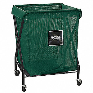 "1-Compartment X-Frame Laundry Cart, 150 lb. Capacity, 22"" L X 20"" W X 35-1/2"" H"