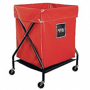 X-Frame Cart,6 Bu,Red Vinyl