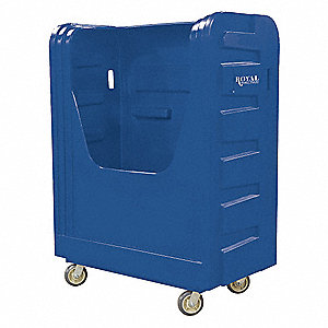 Poly Bulk Truck,48 cu ft,Blue