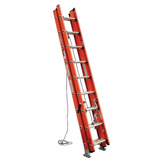 Werner 24 Ft Fiberglass Extension Ladder 300 Lb Load Capacity 61 0 Lb Net Weight 22e979 D6224 3 Grainger