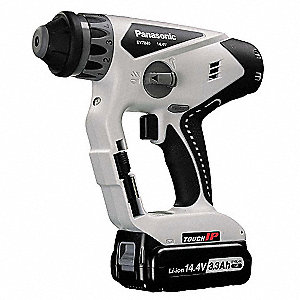 Cordless Rotary Hammer Drill Kit, 14.4 Voltage, 0 to 3800 Blows per Minute, Battery Included
