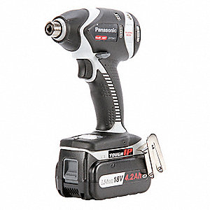 "1/4"" Cordless Impact Driver Kit, 14.4 or 18.0 Voltage, 1370 in.-lb. Max. Torque, Battery Included"