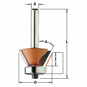 Trimmer Router Bit,HW,3/4 in