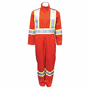 COVERALLS FR ORANGE  HI-VIS 48T