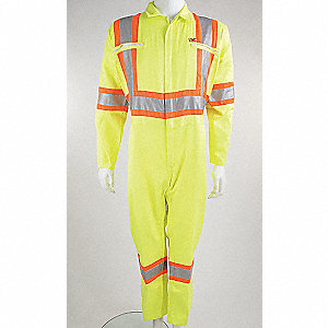 COVERALLS CSA TRAFFIC YELLOW 60