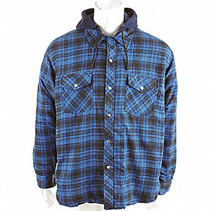 SHIRT FLANNEL QUILTED BLUE XS