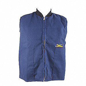 VEST QUILTED NAVY XS