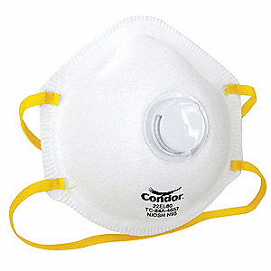 N95 Disposable Particulate Respirator, White, Universal, 10PK