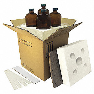 HAZMAT Shipping Kit,(4) 4 oz Bottles,PK4