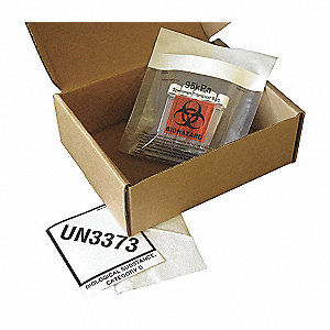 HAZMAT Shipping Kit,6 In x 9-1/8 In,PK12