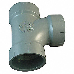 "Schedule 40 DWV CPVC Tee, 2"" Pipe Size, Hub x Hub x Hub Fitting Connection Type"