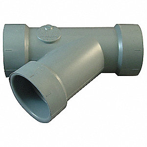 "CPVC Wye, 1-1/2"" Pipe Size, Hub Connection Type"
