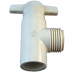 "CPVC Angle Valve, 1/2"" Pipe Size, MNPT x Socket Connection Type"