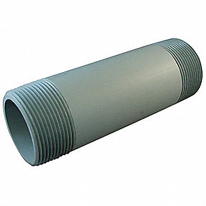 Pipe Nipple,3 In,PVC,Schedule 80,Gray