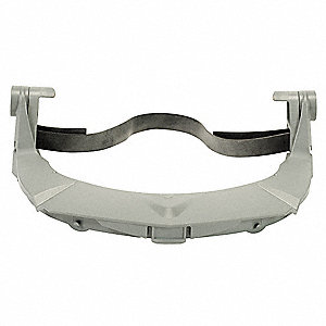Plastic Faceshield Frame, Gray, 1 EA