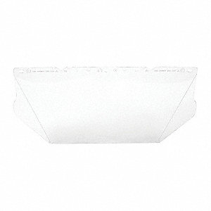 Visor,Polycarb,Clear,8x17 In