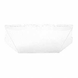 Visor,Polycarb,Clear,8x17 In,PK20
