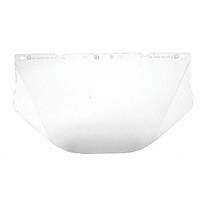 Visor,Polycarb,Clear,9-1/2x17 In