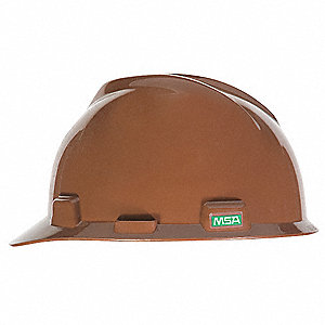Front Brim Hard Hat, 4 pt. Pinlock Suspension, Brown, Hat Size: One Size Fits Most