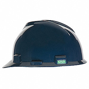 Front Brim Hard Hat, 4 pt. Ratchet Suspension, Dark Blue, Hat Size: 6-1/2 to 8