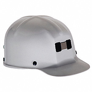 Front Brim Hard Hat, 4 pt. Pinlock Suspension, White, Hat Size: 6 to 9