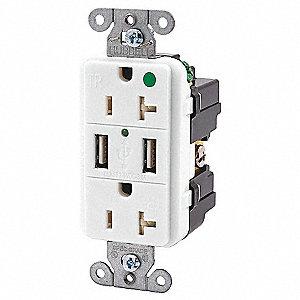 DUPLEX HG 20A 125V 3A 5V USB W