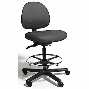 "Black Polyurethane Intensive 24/7 Task Chair 15"" Back Height, Arm Style: No Arm"