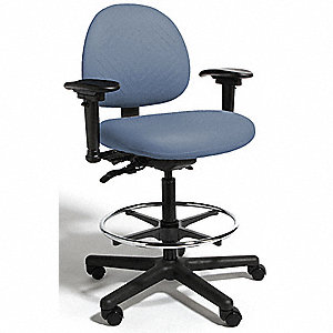 "Blue Polyurethane Intensive 24/7 Task Chair 15"" Back Height, Arm Style: 2-Way Adjustable"