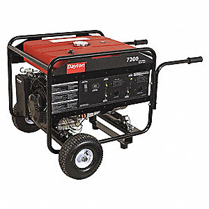 Portable Generator, 120/240VAC Voltage, 7200 Rated Watts, 13,400 Surge Watts, 54.2/27.1 Amps @ 120/2