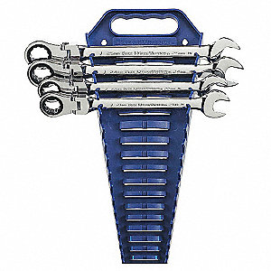 Ratcheting Wrench Set, SAE, Number of Pieces: 4