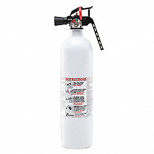Dry Chemical Fire Extinguisher with 2.5 lb. Capacity and 8 to 10 sec. Discharge Time