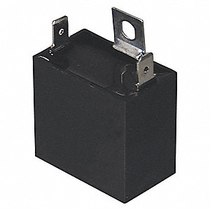 Rectangle Motor Run Capacitor,3 Microfarad Rating,370VAC Voltage