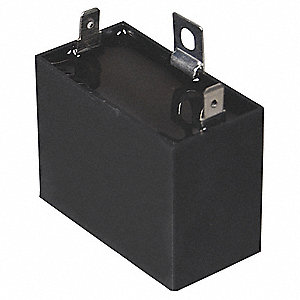 Rectangle Motor Run Capacitor,15 Microfarad Rating,440VAC Voltage