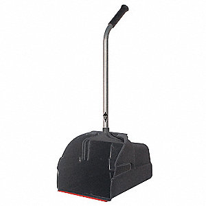 Long Handled Dust Pan,Black,Plastic
