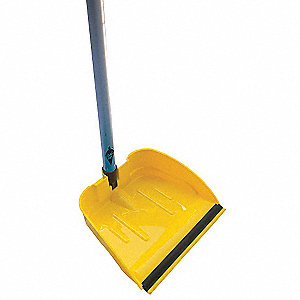 "Plastic Long Handled Dust Pan, Overall Length 10"", Overall Width 9-1/2"""