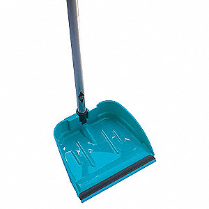 Long Handled Dust Pan,Teal,Plastic