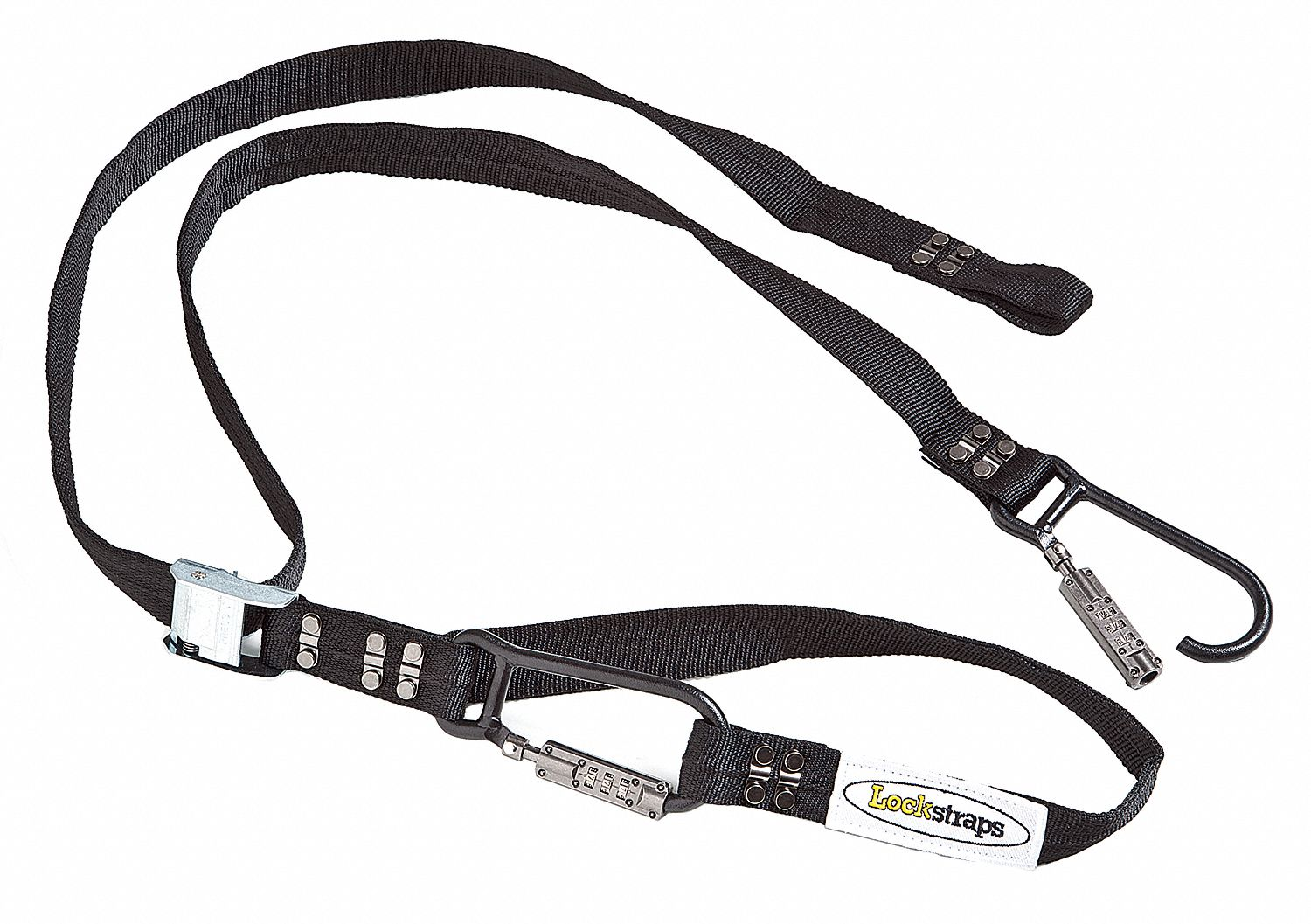 Tie Down Strap, 8 ft 6 inL x 1 1/2 inW, 500 lb Load Limit, Adjustment: Cam Buckle
