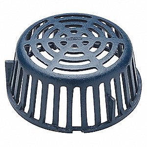 Cast Iron Blue Roof Drain Dome Pipe Dia., Screw Connection - Drains