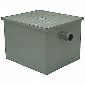 Grease Interceptor Trap,21-1/4 In L