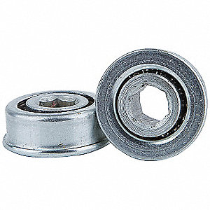 "Zinc Plated Steel Hex Conveyor Bearing with 0.908"" O.D., 5/16"" Bore Dia., and 35 lb. Dynamic Load Ca"