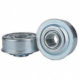"Zinc Plated Steel Hex Conveyor Bearing with 2.270"" O.D., 11/16"" Bore Dia., and 425 lb. Dynamic Load"