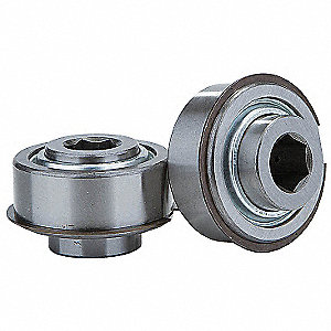 "Chrome Steel Hex Precision Conveyor Bearing with 2.265"" O.D., 11/16"" Bore Dia., and 2450 lb. Dynamic"
