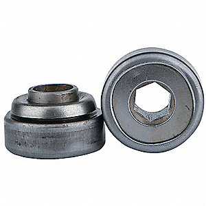 Hex Conveyor Bearing,1 In,3.115 In OD