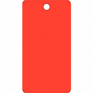"Blank Tag, Fluorescent Red, Height: 5-3/4"" x Width: 3"", 25 PK"