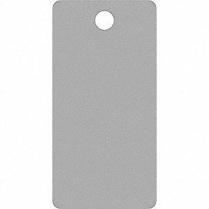 "Blank Tag, Silver, Height: 3-3/4"" x Width: 1-7/8"", 25 PK"