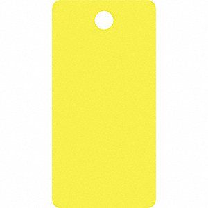 Blank Tag,5-1/4 x 2-5/8In,Yellow,PK25
