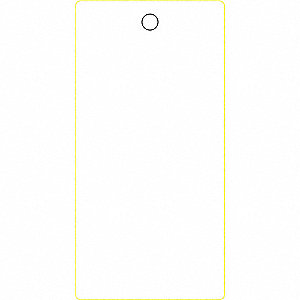 Blank Tag,6-1/4 x 3-1/8In,White,PK25