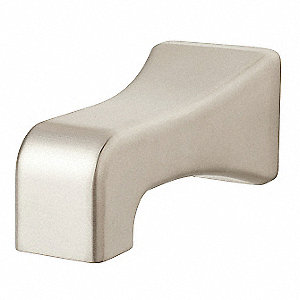 Brushed Nickel Tub Spout, No Diverter Tub Spouts, For Use With Universal Fit
